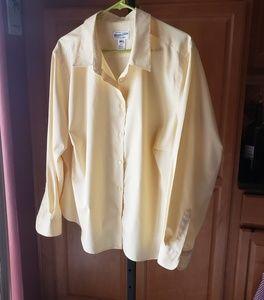 Pendleton Womens 22W Shirt NWOT Yellow Cotton